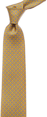 Salvatore Ferragamo Yellow Bear Silk Tie