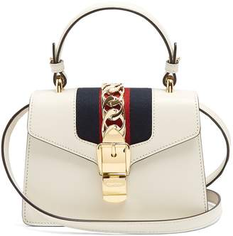 Sylvie mini leather shoulder bag