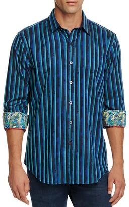 Robert Graham Andromeda Vert Stripe Classic Fit Button-Down Shirt $198 thestylecure.com