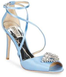 Badgley Mischka Tatum Satin Stiletto Heel Sandals