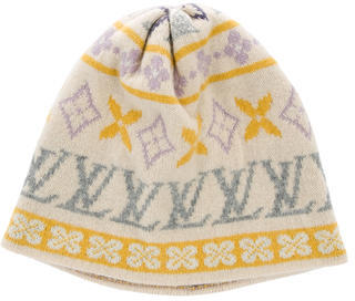 Louis Vuitton Louis Vuitton Cashmere Monogram Beanie