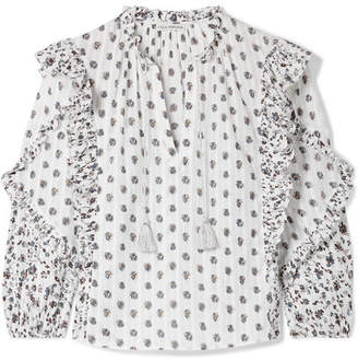 Ulla Johnson Kati Floral-print Cotton-gauze Blouse - White