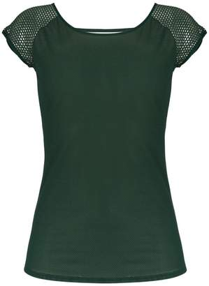Track & Field mesh panelled blouse
