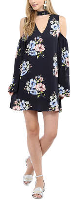 Glam Floral Cold Shoulder Dress