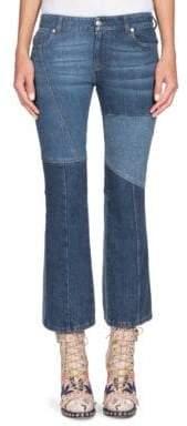 Alexander McQueen Cropped Patchwork Denim Jeans