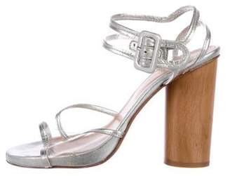 Robert Clergerie Round-Toe Leather Sandals