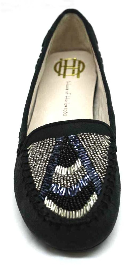 """House Of Harlow Marion"""" Black Suede Mocassin"""