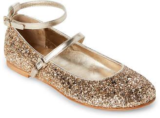 Patrizia Pepe Kids Girls) Gold Glitter Ballet Flats
