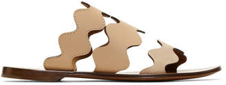 Chloé Pink Lauren Flat Sandals