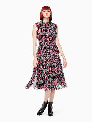 Kate Spade Tapestry chiffon midi dress