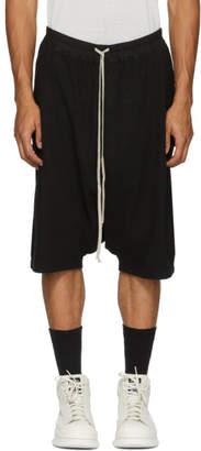 Rick Owens Black Pod Shorts