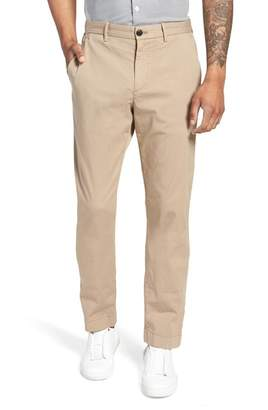 Theory Zaine Patton Flat Front Stretch Solid Cotton Pants