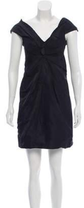Marc Jacobs Silk Pleated Dress Black Silk Pleated Dress