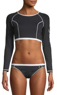 Juicy Couture Logo Cropped Rash Guard