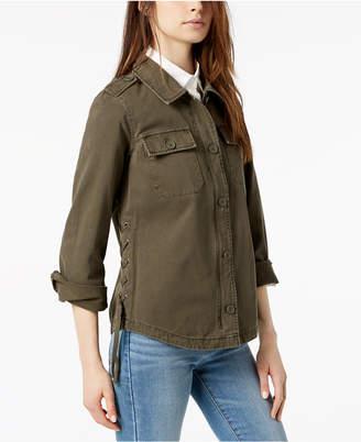 Levi's Cotton Lace-Up Shirt Jacket