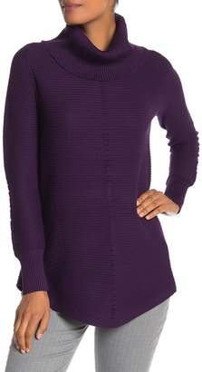 Cyrus Ottoman Ribbed Cowl Neck Sweater