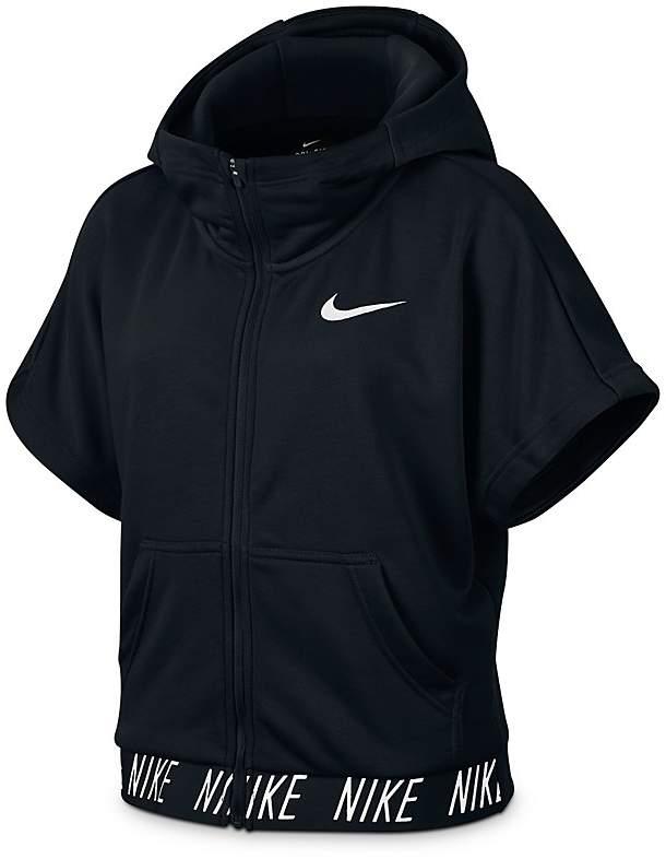 Nike Girls' Short-Sleeved Training Hoodie - Big Kid