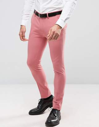 Asos Design Super Skinny Suit Pants In Mid Pink