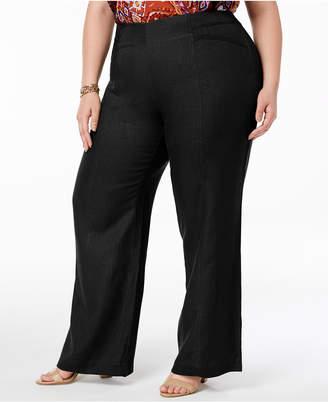 INC International Concepts I.n.c. Plus Size Wide-Leg Pants, Created for Macy's