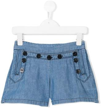 Chloé Kids pinafore denim shorts