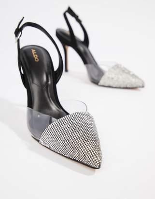 ebec8c23cdd4 Aldo Sywiel black embellished pointed toe slingback heels
