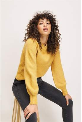 Dynamite Bubble Sleeve Sweater Narcissus Yellow