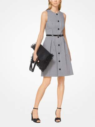 Michael Kors Gingham Stretch-Cotton Dress