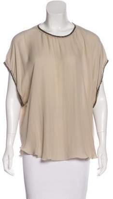 L'Agence Beaded Silk Top
