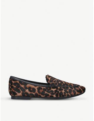 Kurt Geiger London Kobi leopard-print pony loafers