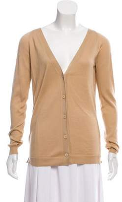 Tory Burch Silk-Accented Button-Up Cardigan w/ Tags