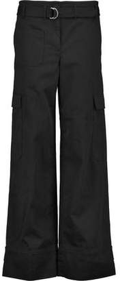 Helmut Lang Cotton And Linen-Blend Wide-Leg Pants