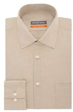 Geoffrey Beene Fitted Wrinkle Free Dress Shirt