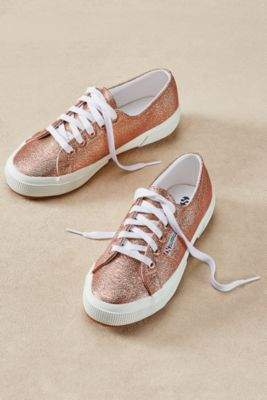 Soft Surroundings Superga Textured Metallic Sneakers