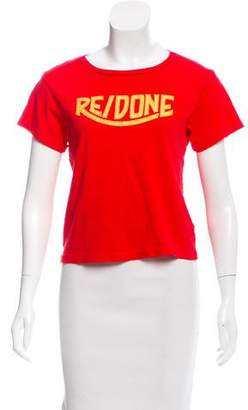 RE/DONE Short Sleeve Crew Neck Top