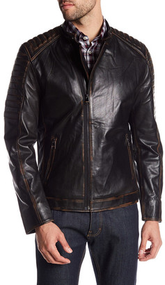 Maceoo Distressed Leather Moto Jacket $699 thestylecure.com