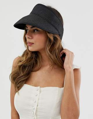 Asos Design DESIGN straw wrap around visor