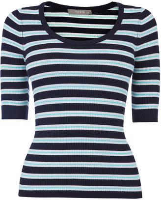 Oasis Collegiate Stripe Knit