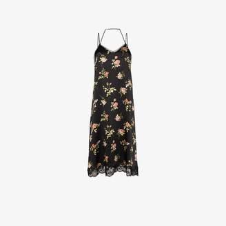 R 13 floral silk slip dress