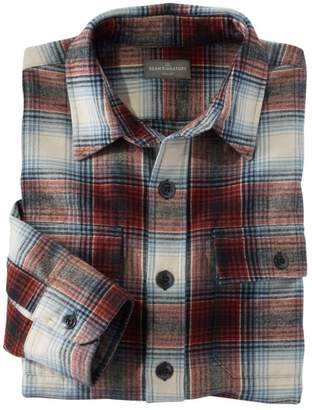 L.L. Bean L.L.Bean Men's Signature 1933 Chamois Cloth Shirt, Slim Fit Plaid