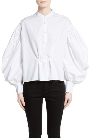 Women's Burberry Lillium Puff Sleeve Blouse