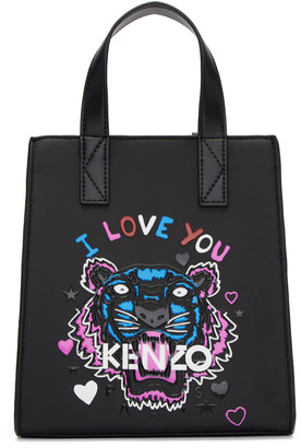 Kenzo Black Limited Edition Mini 'Tiger x I Love You' Tote $270 thestylecure.com