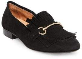 Steven by Steve Madden Suede Horse-Bit Loafers