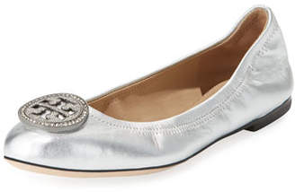 Tory Burch Liana Metallic Leather Ballet Flats
