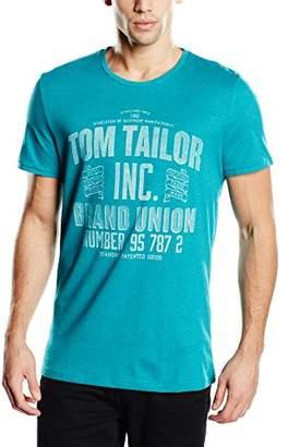 Tom Tailor Men's Short Sleeve T-Shirt - Green