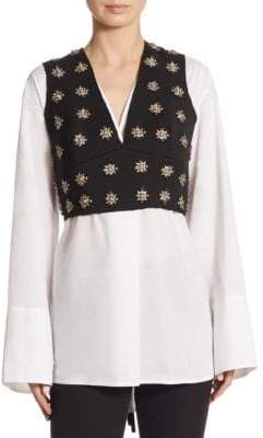 Elizabeth and James Leola Embellished Bustier Top
