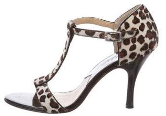 Michael Kors Pony Hair T-Strap Sandals