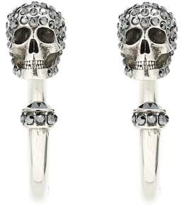 Alexander McQueen Skull hoop earrings