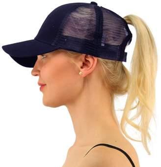 FCX-Fashion Ponycap Messy Ponytail Adjustable Mesh Hats for Women Baseball  Caps 6e59d4c1ffd9