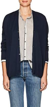 Pas De Calais Women's Oversized Cotton-Blend Cardigan - Navy