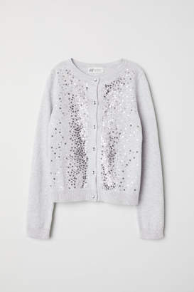H&M Cardigan with Sequins - Gray